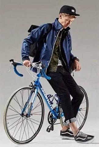Мужская темно-синяя ветровка от Umbro
