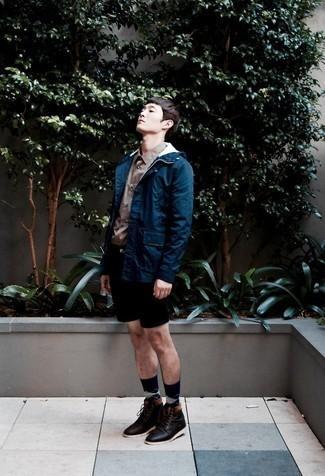 Мужская темно-синяя ветровка от Joma