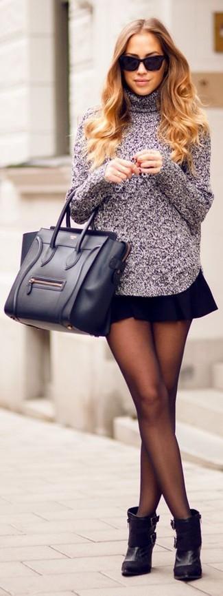 Вязаная юбка короткая с чем носить