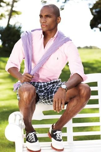 Мужская розовая рубашка с длинным рукавом от BLEND