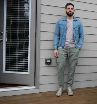 Мужские серые кожаные кеды от WS Shoes