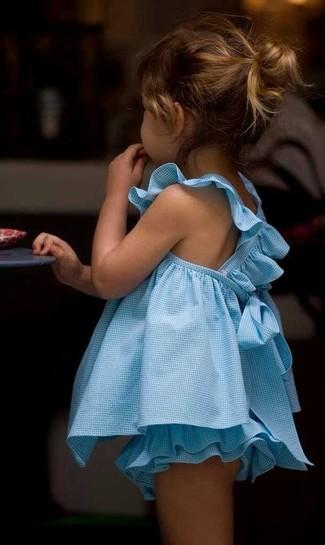Как и с чем носить: голубое платье