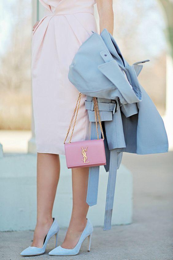 Розовое платье бирюзовые туфли