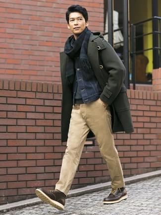 Мужская темно-синяя джинсовая куртка от Mustang