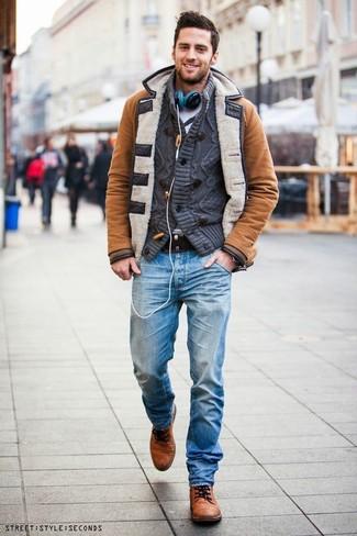 Мужские голубые джинсы от Levi's