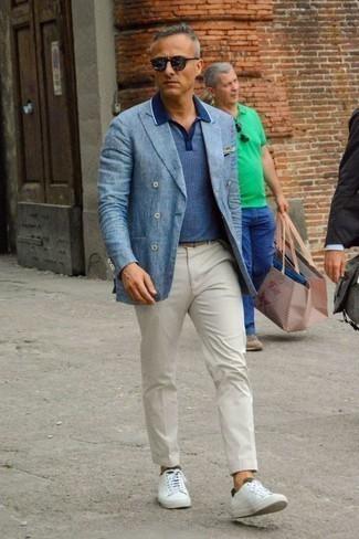 Мужская синяя футболка-поло от Umbro
