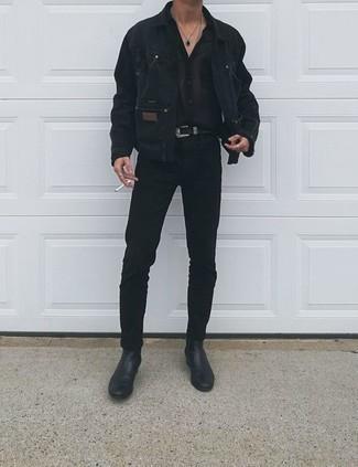 Мужские черные джинсы от Eleven Paris
