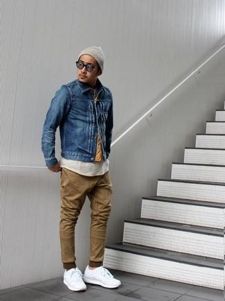 Коричневые брюки чинос от K-Way