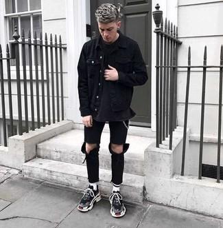 Мужские черные кроссовки от ASICSTiger