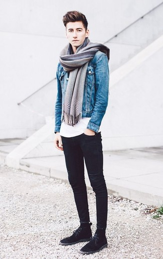 Мужская синяя джинсовая куртка от Denim & Supply Ralph Lauren