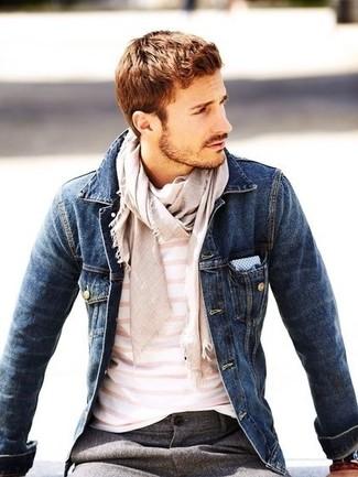 Мужская темно-синяя джинсовая куртка от BLEND