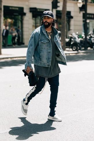 Мужские темно-синие спортивные штаны от adidas Performance