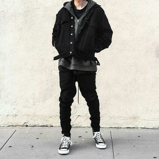 Мужские черные спортивные штаны от Nike