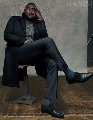 Черные кожаные туфли дерби от Giorgio Armani