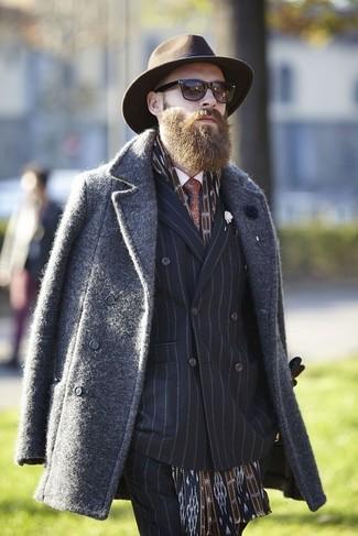 Мужская коричневая шерстяная шляпа от Lock & Co Hatters