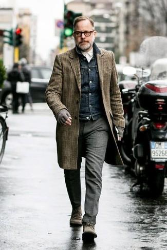 Мужские серые шерстяные перчатки от DSquared