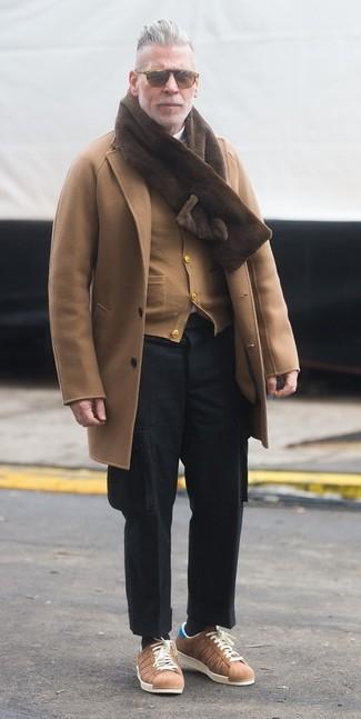 Мужской светло-коричневый кардиган от Topman