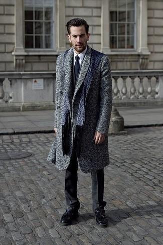Мужской темно-синий шарф от Venera