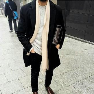 Мужской серый свитер с круглым вырезом от Jack & Jones