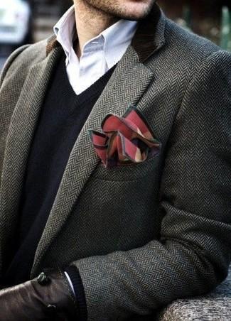 Темно-серое длинное пальто от Thom Browne