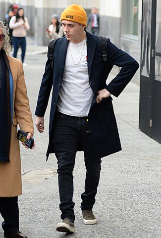 Мужской черный рюкзак из плотной ткани от Hysteric Glamour