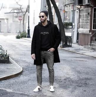 Мужской черный худи с принтом от Atributika & Club™