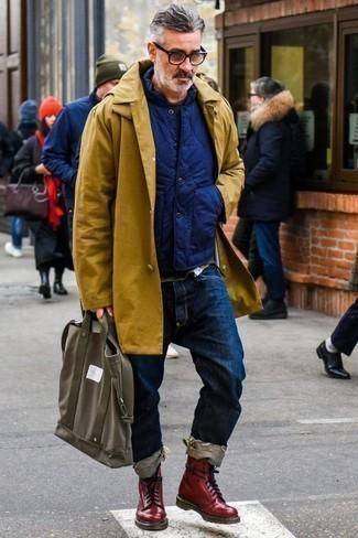 Мужской темно-серый свитер с круглым вырезом от Ringspun