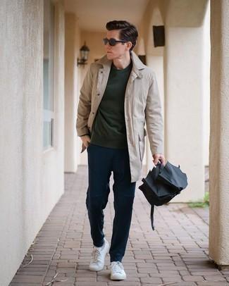 С чем носить темно-зеленый свитшот мужчине: Темно-зеленый свитшот и темно-синие брюки чинос — обязательные элементы в гардеробе молодых людей с чувством стиля. Вместе с этим ансамблем органично смотрятся белые низкие кеды из плотной ткани.