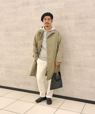 Мужской серый худи с принтом от Atributika & Club™