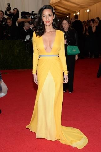 желтое вечернее платье large 2268