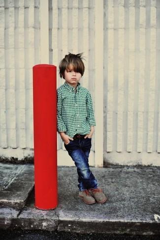 Детские темно-синие джинсы для мальчику от Armani Junior