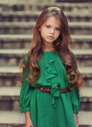 Как и с чем носить: зеленое платье
