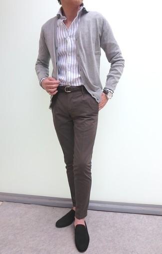 Мужской серый кардиган от Burton Menswear London