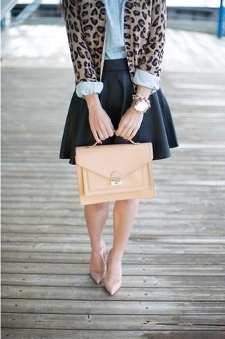 Светло-коричневая кожаная сумка-саквояж от Tod's