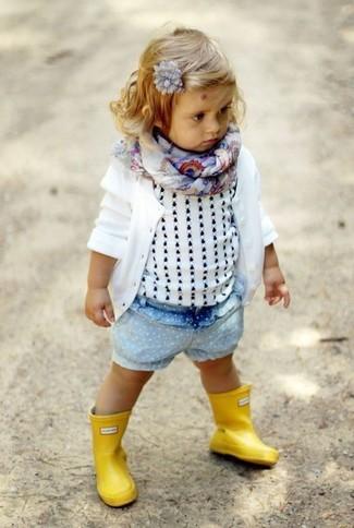 Детский белый кардиган для девочке