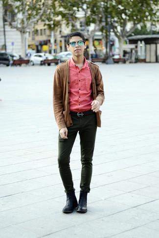 Темно-зеленые брюки чинос от McCrain
