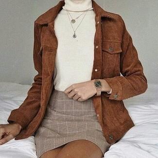 Женские светло-коричневые кожаные часы от La Californienne