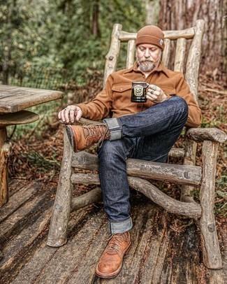 С чем носить коричневую шапку мужчине: Коричневая шерстяная куртка-рубашка и коричневая шапка помогут создать несложный и комфортный лук для выходного дня в парке или вечера в шумном заведении с друзьями. Любители экспериментировать могут завершить ансамбль коричневыми кожаными повседневными ботинками, тем самым добавив в него немного изысканности.