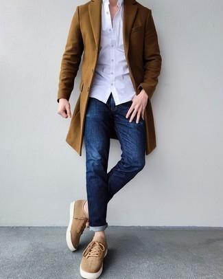 Мужские светло-коричневые кеды от Tommy Hilfiger