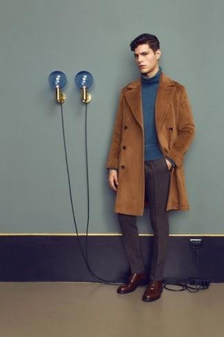Темно-коричневые кожаные туфли дерби от Doucal's