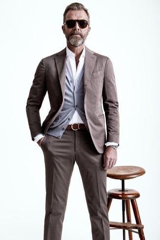 костюм кардиган рубашка с длинным рукавом large 21847