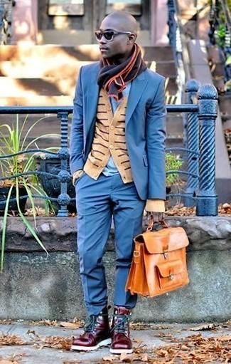 Мужской черный шарф от Venera