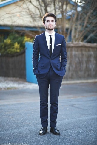 Мужской черный галстук от Topman
