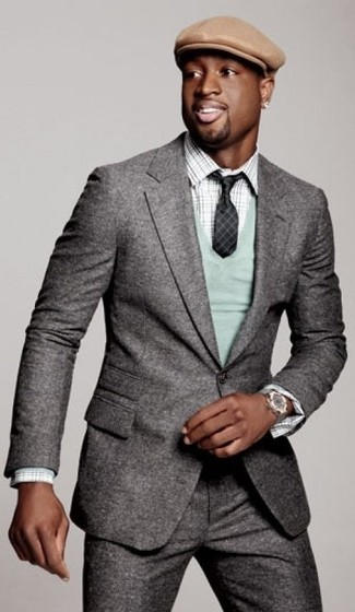 костюм свитер с v образным вырезом рубашка с длинным рукавом large 14198