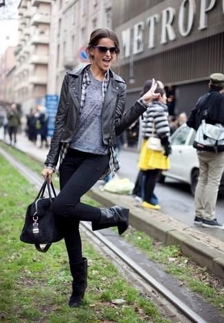 Черные джинсы скинни от Dorothy Perkins