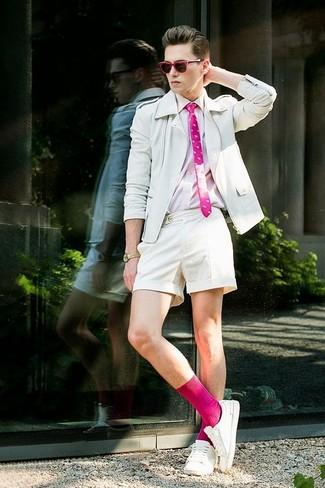 Мужская розовая рубашка с длинным рукавом от SPRINGFIELD
