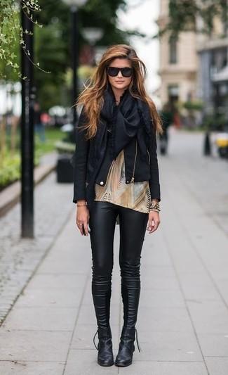 Женские черные солнцезащитные очки от Prada