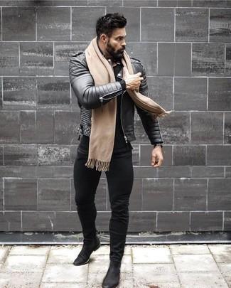 Мужская черная футболка с длинным рукавом от Nike