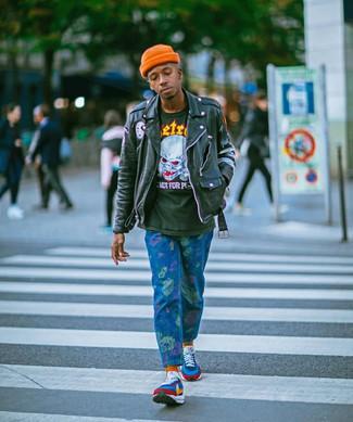 Мужская оранжевая шапка от New Era