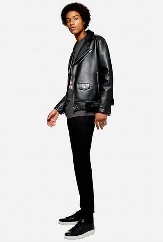 Мужские черные кожаные кеды от Lonsdale